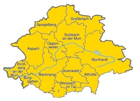 Gemeinden rund um Schwäbisch Gmünd