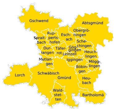 Gemeinden rund um Backnang