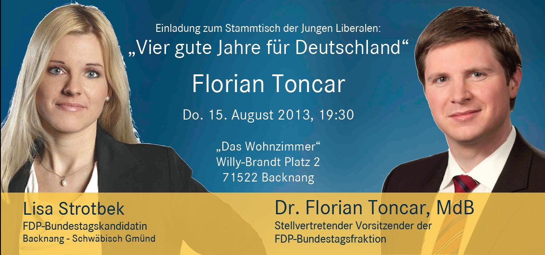 Einladung Florian Toncar